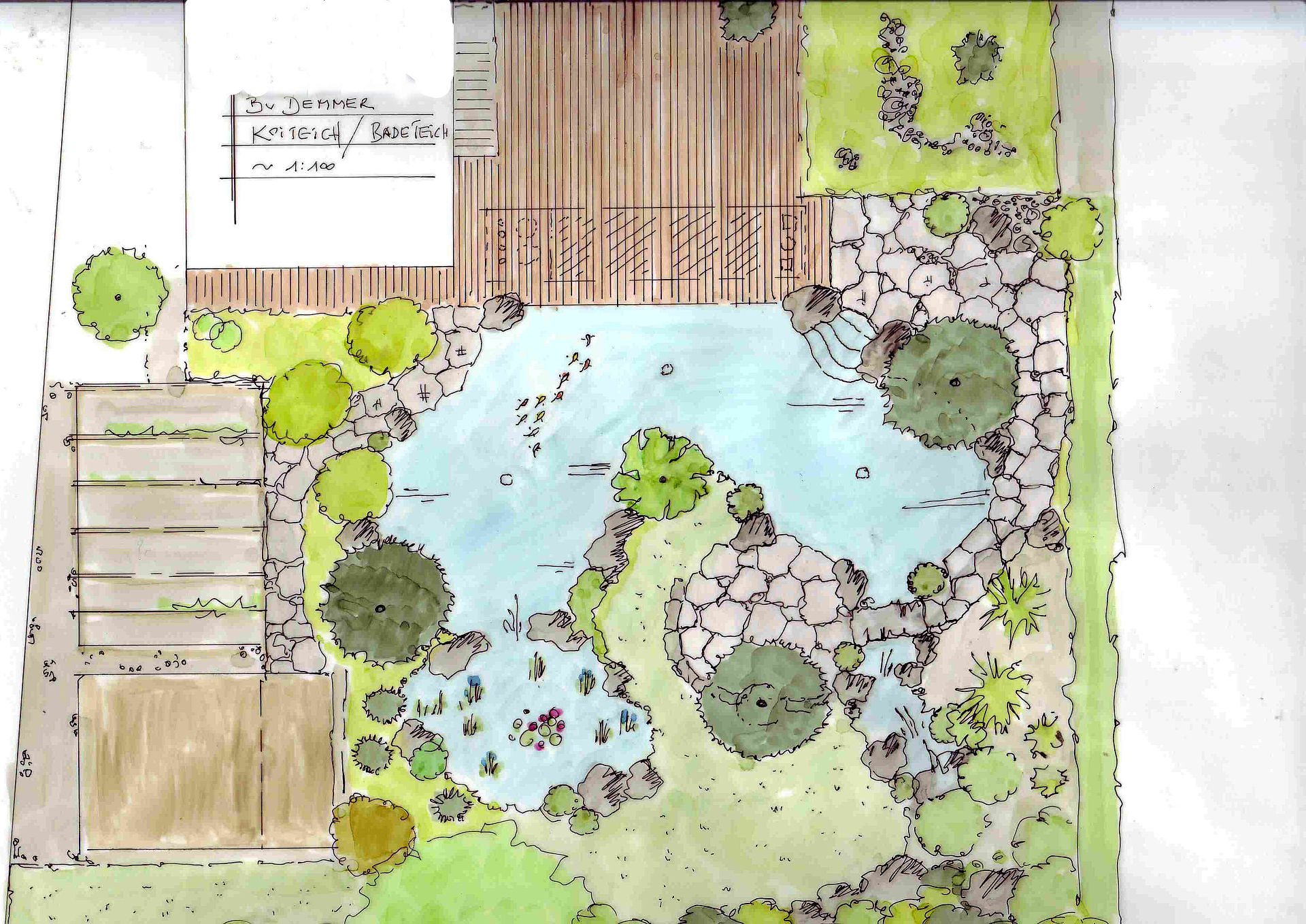 Landschaftsarchitektur Garten Skizze Emejing ...